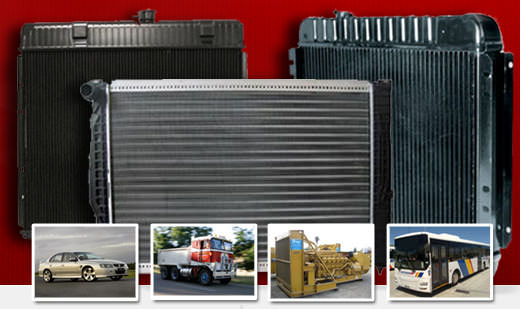 Radiators for all cars, trucks, buses and machinery.